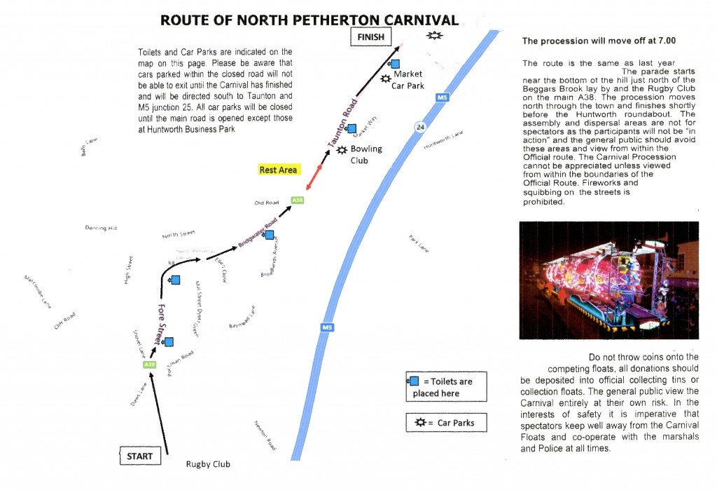 Carnival Route Map